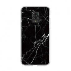 Wozinsky Marble Tpu Dėklas Xiaomi Redmi Note 9 Pro Juodas