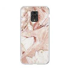 Wozinsky Marble Tpu Dėklas Xiaomi Redmi Note 9S Rožinis