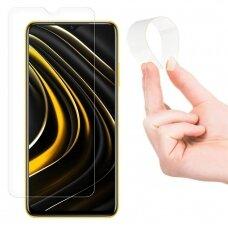 Wozinsky Nano Flexi Glass Hybrid Screen Protector Tempered Glass skirta Xiaomi Poco M3