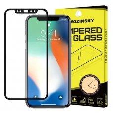 """Grūdintas Apsauginis Stiklas """"Wozinsky Pro+ 5D Full Glue"""" Pritaikytas Dėklui Iphone 11 Pro Max / Iphone Xs Max Juodas"""