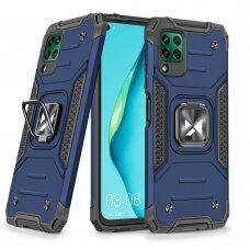 Dėklas Wozinsky Ring Armor Case Kickstand Tough Rugged Huawei P40 Lite Mėlynas