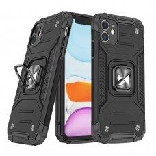 Dėklas Wozinsky Ring Armor Case Kickstand Tough Rugged  iPhone 11 Juodas
