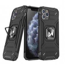 Dėklas Wozinsky Ring Armor Case Kickstand Tough Rugged iPhone 11 Pro Max Juodas
