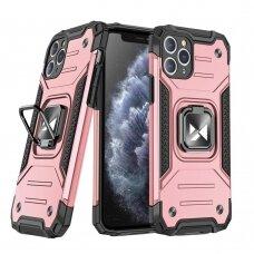 Dėklas Wozinsky Ring Armor Case Kickstand Tough Rugged iPhone 11 Pro Rožinis
