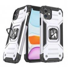 Dėklas Wozinsky Ring Armor Case Kickstand Tough Rugged  iPhone 11 sidabrinis