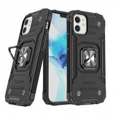 Dėklas Wozinsky Ring Armor Case Kickstand Tough Rugged iPhone 12 mini Juodas