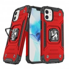 Dėklas Wozinsky Ring Armor Case Kickstand Tough Rugged  iPhone 12 mini raudonas
