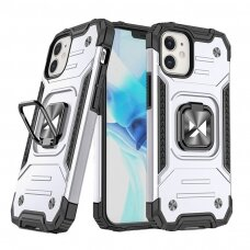 Dėklas Wozinsky Ring Armor Case Kickstand Tough Rugged  iPhone 12 mini sidabrinis