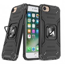Dėklas Wozinsky Ring Armor Case Kickstand Tough Rugged iPhone SE 2020 / iPhone 8 / iPhone 7 Juodas