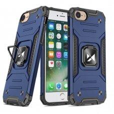 Dėklas Wozinsky Ring Armor Case Kickstand Tough Rugged iPhone SE 2020 / iPhone 8 / iPhone 7 mėlynas