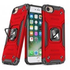 Dėklas Wozinsky Ring Armor Case Kickstand Tough Rugged iPhone SE 2020 / iPhone 8 / iPhone 7 raudonas