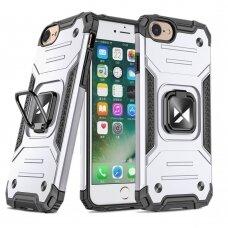 Dėklas Wozinsky Ring Armor Case Kickstand Tough Rugged iPhone SE 2020 / iPhone 8 / iPhone 7 sidabrinis