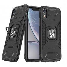 Dėklas Wozinsky Ring Armor Case iPhone XR Juodas