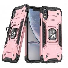 Dėklas Wozinsky Ring Armor Case iPhone XR rožinis