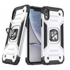 Dėklas Wozinsky Ring Armor Case iPhone XR sidabrinis