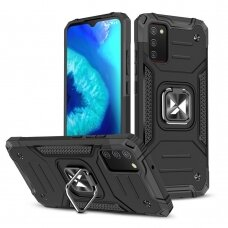 Dėklas Wozinsky Ring Armor Case Samsung Galaxy A02s juodas