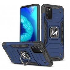Dėklas Wozinsky Ring Armor Case Samsung Galaxy A02s mėlynas