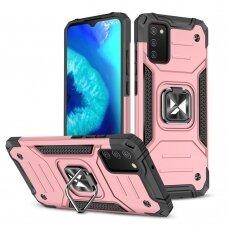 Dėklas Wozinsky Ring Armor Case Samsung Galaxy A02s rožinis