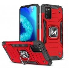 Dėklas Wozinsky Ring Armor Case Samsung Galaxy A02s raudona