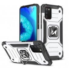 Dėklas Wozinsky Ring Armor Case Samsung Galaxy A02s sidabrinis