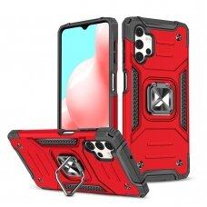 Dėklas Wozinsky Ring Armor Case Kickstand Samsung Galaxy A32 4G Raudonas