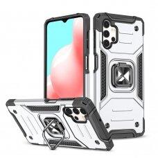 Dėklas Wozinsky Ring Armor Case Kickstand  Samsung Galaxy A32 4G Sidabrinis