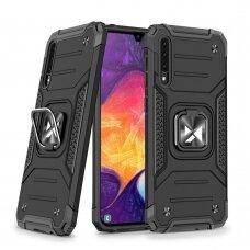 Dėklas Wozinsky Ring Armor Case Kickstand Tough Rugged Samsung Galaxy A50s / Galaxy A50 / Galaxy A30s Juodas