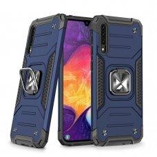 Dėklas Wozinsky Ring Armor Case Kickstand Tough Rugged Samsung Galaxy A50s / Galaxy A50 / Galaxy A30s Mėlynas