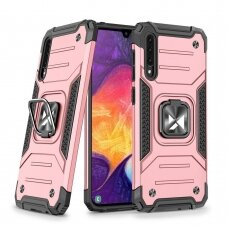 Dėklas Wozinsky Ring Armor Case Kickstand Tough Rugged Samsung Galaxy A50s / Galaxy A50 / Galaxy A30s Rožinis