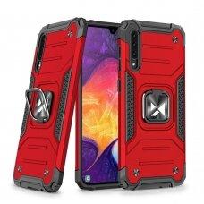 Dėklas Wozinsky Ring Armor Case Kickstand Tough Rugged Samsung Galaxy A50s / Galaxy A50 / Galaxy A30s Raudonas