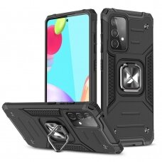 Dėklas Wozinsky Ring Armor Case Kickstand Samsung Galaxy A52/ A52s Juodas