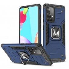 Dėklas Wozinsky Ring Armor Case Kickstand Samsung Galaxy A52/ A52s Mėlynas
