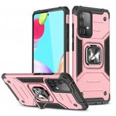 Dėklas Wozinsky Ring Armor Case Kickstand Samsung Galaxy A52/ A52s Rožinis