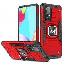 Dėklas Wozinsky Ring Armor Case Kickstand Samsung Galaxy A52/ A52s Raudonas