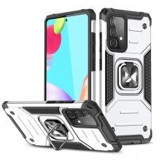 Dėklas Wozinsky Ring Armor Case Kickstand Samsung Galaxy A52/ A52s Sidabrinis