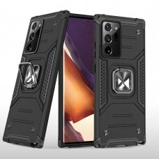 Dėklas Wozinsky Ring Armor Case Kickstand Tough Rugged Samsung Galaxy Note 20 Ultra Juodas