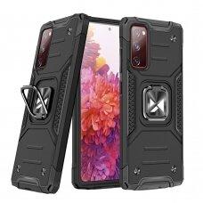 Dėklas Wozinsky Ring Armor Case Kickstand Tough Rugged Samsung Galaxy S20 FE 5G Juodas