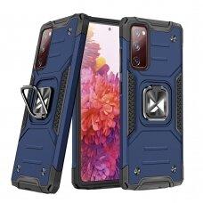 Dėklas Wozinsky Ring Armor Case Kickstand Tough Rugged Samsung Galaxy S20 FE 5G Mėlynas