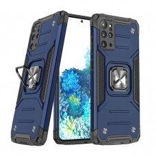 Dėklas Wozinsky Ring Armor Case Kickstand Tough Rugged Samsung Galaxy S20+ (S20 Plus) Mėlynas