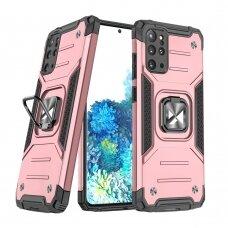 Dėklas Wozinsky Ring Armor Case Kickstand Tough Rugged  Samsung Galaxy S20+ (S20 Plus) Rožinis