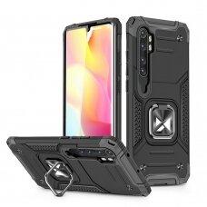 Dėklas Wozinsky Ring Armor Case Xiaomi Mi Note 10 / Mi Note 10 Pro / Mi CC9 Pro Juodas
