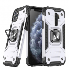 Dėklas Wozinsky Ring Armor Case Kickstand Tough Rugged Xiaomi Redmi Note 8 Pro Sidabrinis