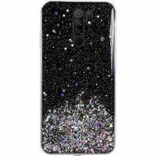 Wozinsky Star Glitter blizgus dėklas Xiaomi Redmi 9 juodas