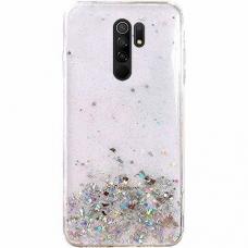 Wozinsky Star Glitter blizgus dėklas Xiaomi Redmi 9 skaidrus