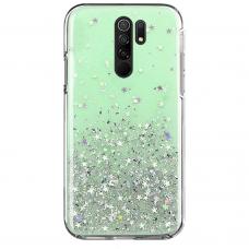 Wozinsky Star Glitter Blizgus Dėklas Xiaomi Redmi 9 Žalias
