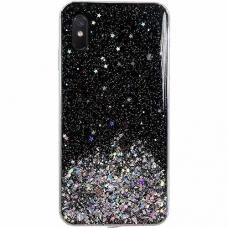 Wozinsky Star Glitter Blizgus Dėklas Xiaomi Redmi 9A Juodas