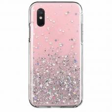 Wozinsky Star Glitter Blizgus Dėklas Xiaomi Redmi 9A Rožinis