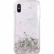 Wozinsky Star Glitter Blizgus Dėklas Xiaomi Redmi 9A Skaidrus