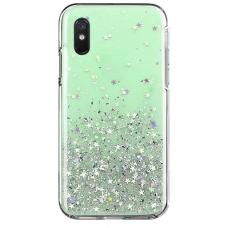 Wozinsky Star Glitter Blizgus Dėklas Xiaomi Redmi 9A Žalias