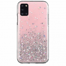 Blizgus TPU dėklas Wozinsky Star glitter Samsung Galaxy A51 rožinis